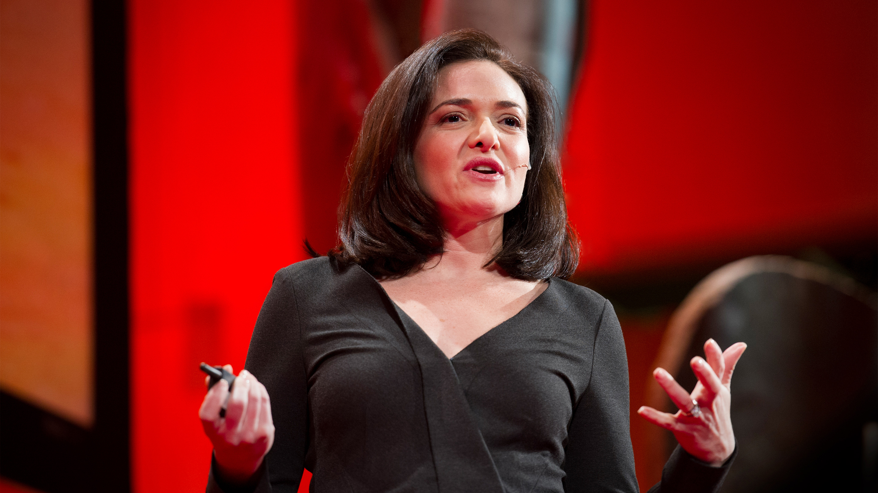 Sheryl Sandberg speaking at TEDWomen. Credit: James Duncan Davidson / TED